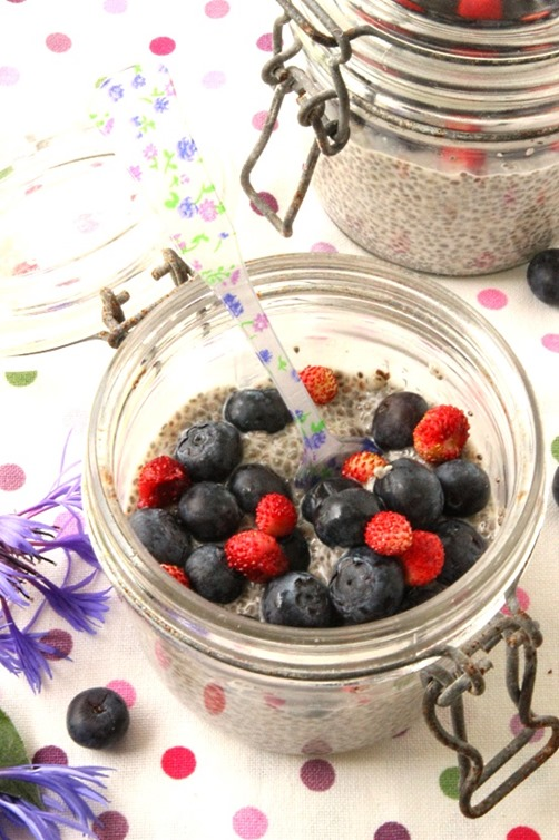 Pudding de chia aux fruits rouges