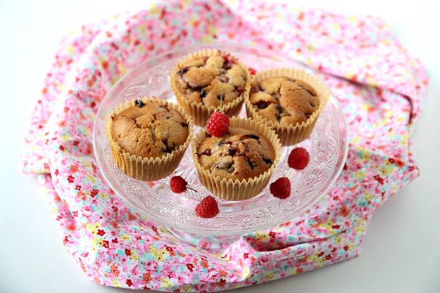 Muffins au fruits rouges vegan