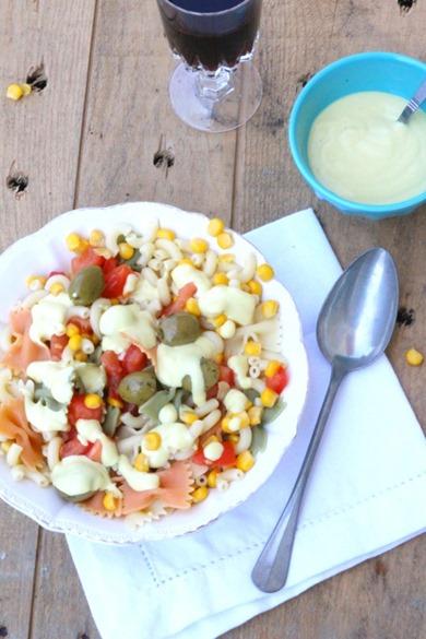 Salade de pâtes vegan