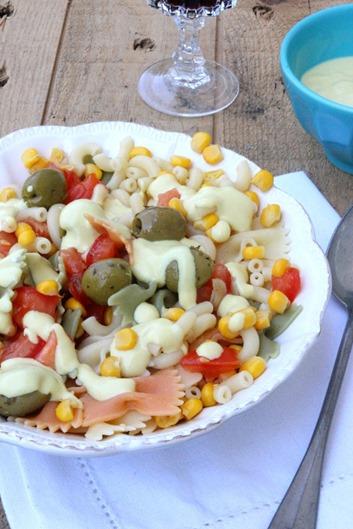 salade pâtes mayonnaise vegan